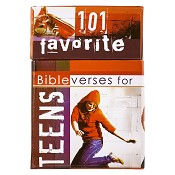 101 favorite bibleverses for teens : Boxes of blessings - 50 cards