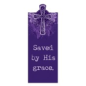 Saved by His grace : Magnetic Bookmark - 4 x 9,5cm