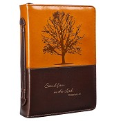 Stand firm - Brown : Biblecover - Large - LuxLeather