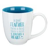 A good teacher takes a hand : Mug - 450 ml
