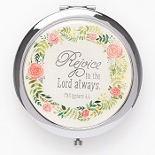 Rejoice in the Lord always : Compact mirror