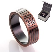 John 3:16 - Copper - Size 9 (19mm) : Ring - Men