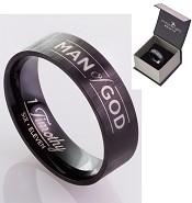 Man of God - Black - Size 11 (21 mm) : Ring - Men