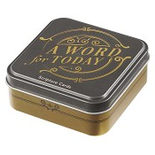 A word for today : Scripture cards in tin