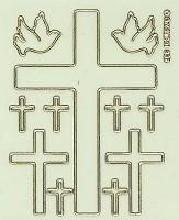Stickervel : Sticker 9 kruisen en 2 duiven lichtgeven