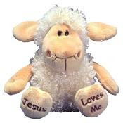Sitting lamb - 23cm - Jesus loves me : Cuddle