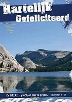 Prentbriefkaart gefeliciteerd [ 25 stuks ] : Picture light 4 ever