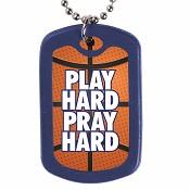 Play hard pray hard : Necklace - Faith tag