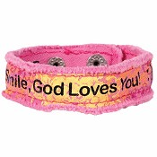 Smile God loves you : Canvas bracelet - Cherished