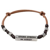 Stand strong in Christ : Bracelet - Faith gear