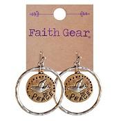 Peace - Dove : Earrings - Faith Gear