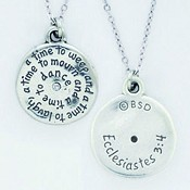 A time to ... - Circle - Ecclesiastes 3: : Necklace -