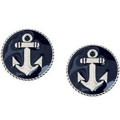 Round with anchor - 20 mm : Earrings