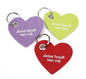 Sleutelhanger vilt Jezus houdt van mij [ 6 stuks ]