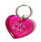 Sleutelhanger God is liefde 4cm [ 3 stuks ]