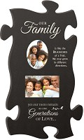 Our family - with 2 photo frames : Photo frame Puzzle Piece - Large