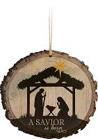 A Savior is born - Ornament : Christmas