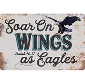 Soar on wings as eagles : Metal sign - 20 x 30 cm