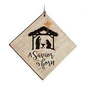 A saviour is born - Ornament : Christmas