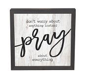 Pray : Wall art - pine framed - 27,3 x 27,3 cm