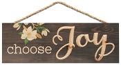 Choose Joy : Carved hanging sign - 40 x 14 cm