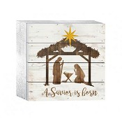 A saviour is born [ 2 stuks ] : Christmas table decor - 15 x 15 cm