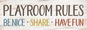 Playroom rules : Wall decor - 40 x 14 cm