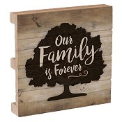 Our family is forever : Coaster - Pallet - 10 x 10 cm