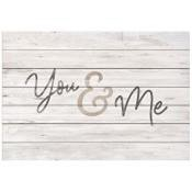You & Me (Wedding Guestbook) : Wall decor - Signable - 62 x 91,5 cm