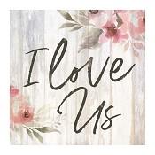 I love us : Tabletop block -  89 x 89 x 38 mm