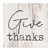 Give thanks : Tabletop block -  89 x 89 x 38 mm