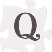 Q [ 2 stuks ] : Puzzle Piece - 15x15cm