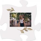 Botanicals - Photo 5 x 7,5 cm [ 2 stuks ] : Puzzle Piece - Photo frame - 15x15cm