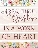 A beautiful garden - Pallet : Wall decor - 21 x 28 cm