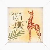 Stand tall little one - Framed : Wall decor - 12,5 x 12,5 cm