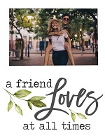 A friend loves - Photo 5 x 7,5 cm : Photo frame - Magnetic - 9,5 x 12,5 cm