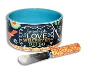 Spread God's love wherever you go : Dip bowl with speader