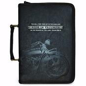 Ride in Triumph - 15,5 x 23 x 4,5 cm : Biblecover LuxLeather - Medium