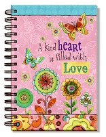 A kind heart is filled with love : Wirebound journal - 14,5 x 21 cm