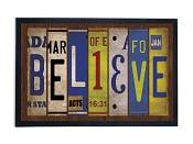 Believe - Licence plate : Doormat - 45 x 71 cm