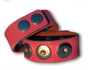 Roze chunk armband : Chunk bracelet - Leather