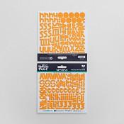 Peach - Cardstock sticker alphabet : Illustrated Faith - Basics