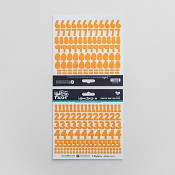 Peach - Cardstock stickers numbers : Illustrated Faith - Basics