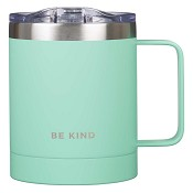 Be kind - Teal - Non-scripture : Stainless steel Camp mug - 325 ml