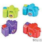 Camera with faith based scenes [ 12 stuks ] : Mini camera - Assorted colors