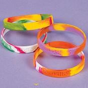 Siliconen polsband 'Walking with Jesus' [ 12 stuks ] : Silicone bracelet