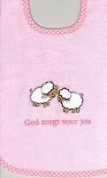 Slab roze schaapjes God zorgt voor jou