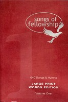 0 : Songs of fellowship 1 words large p : Songs of fellowship