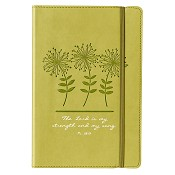 1 : The Lord is my strength - Green : Flexcover journal with elastic closure