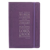 1 : May the words of my mouth - Purple : Flexcover journal with elastic closure